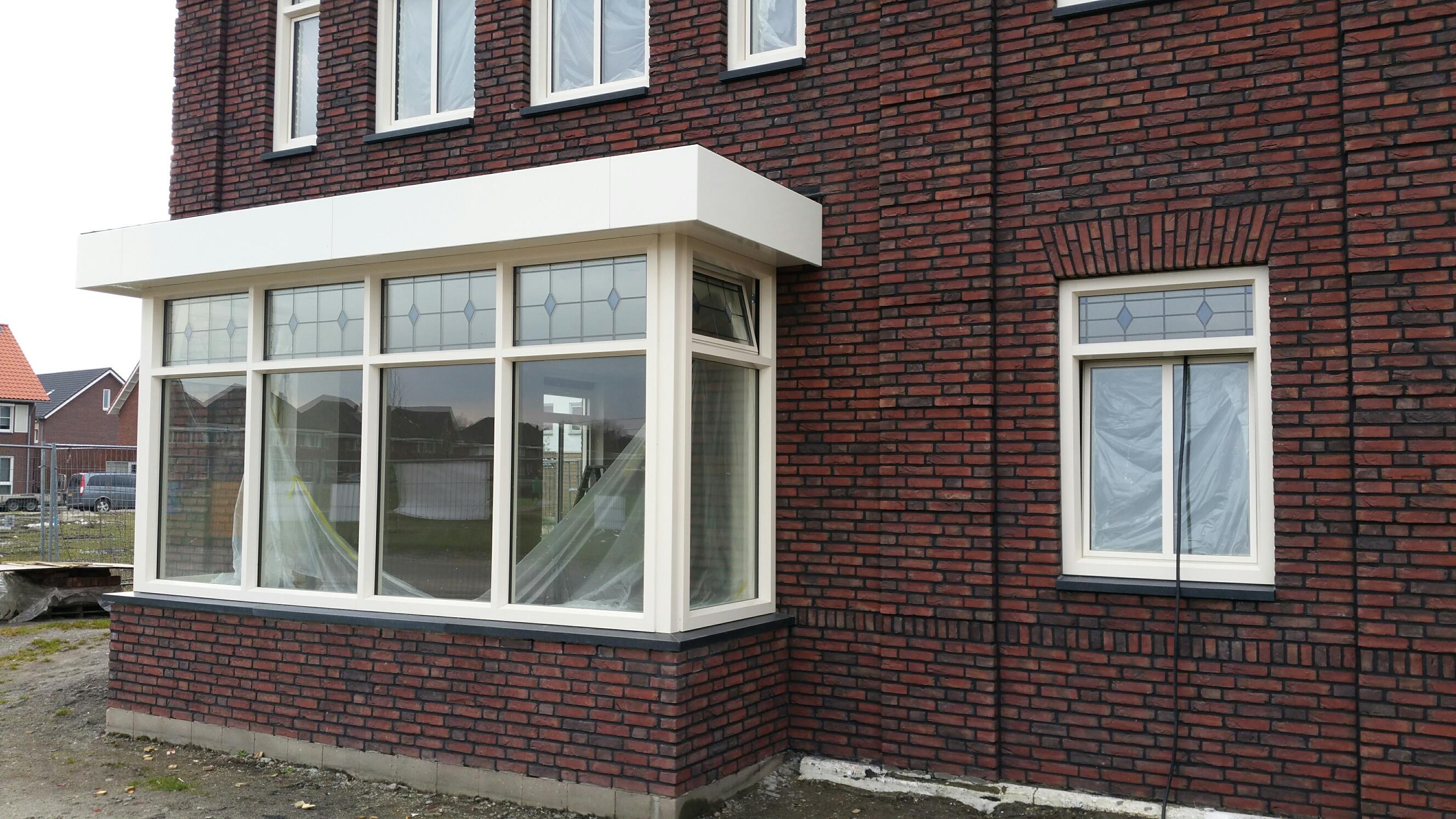 Basalt raamdorpels nieuwbouwhuis Boekel